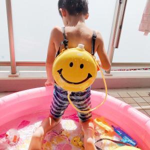 ☆おうちプール開きとコメダ