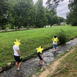 ☆万博記念公園で水遊び&空中散歩