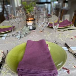 【結婚記念日はシェオリビエの料理と自分のテーブルコーディネート】