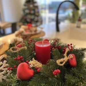 【エクレアキッチン 、ショールームのクリスマス装飾】