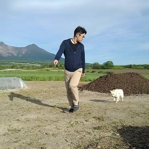 長ネギ畝除草と小豆植えた!