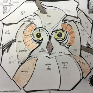 フクロウの型紙