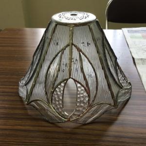 クリアーガラスで八面体ランプ