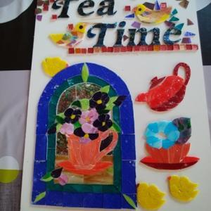Iさんの新作モザイク Tea Time