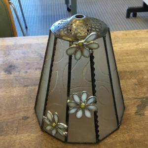 昭和ガラスのランプ