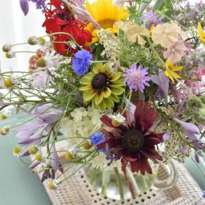 お庭のお花を頂いて