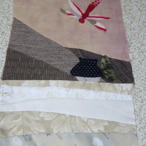 製作途上の布絵