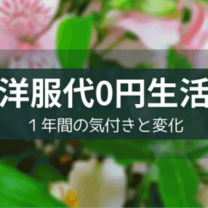 【洋服代0円生活】1年間の気付きと変化【被服費の節約】