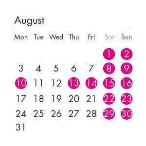 8月の店休日について