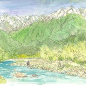 高瀬川と爺が岳