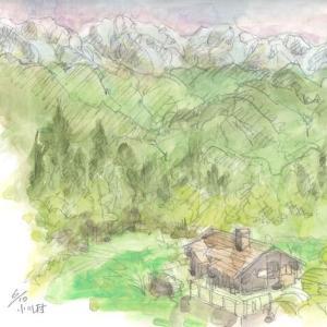 小川村からの北ア