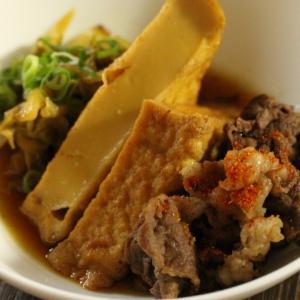 【秘密の悪女キッチン】︰牛肉と厚揚げとキャベツの煮物