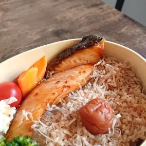極狭キッチンからこんにちは︰今日は、「鮭弁当」
