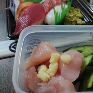 「生の鶏のささみ」と「くら寿司」