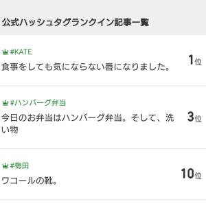 #KATE で1位︰ありがとうございます