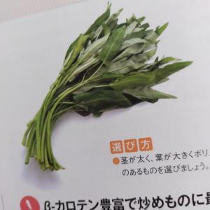 空芯菜と豚バラ肉の塩炒め
