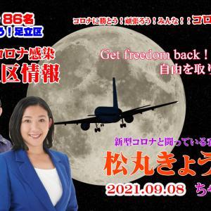 足立区 松丸きょう子さんの2021年9月8日 足立区コロナ感染情報 【4K】