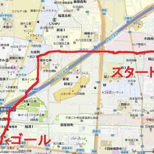 寝屋川市南部の讃良川、まずは四条畷市との市境からスタート