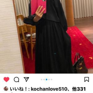 女優熊谷真実さんが小袖でオーダーいただいたドレスをInstagramで