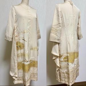 仮縫い二回目 色留袖ドレス