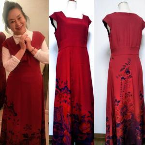 赤いドレスで!