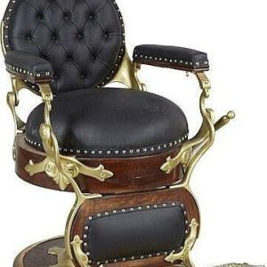 昔の床屋の椅子