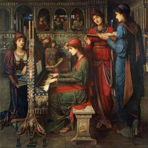 楽器を弾く女性39楽器を弾く女性の姿