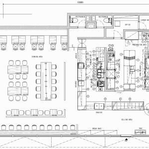 厨房設計/繁盛店づくりの厨房計画を理解する/オープンサンドとコーヒーの専門店 -2