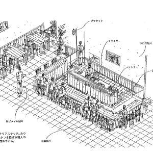 厨房設計/繁盛店づくりの新しい厨房計画を理解する/とんかつ割烹料理店-1