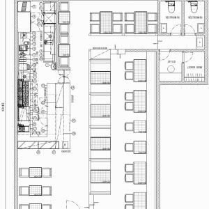 厨房設計/繁盛店づくりの厨房計画を理解する/ハワイアンカフェダイニング-2