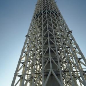 東京スカイツリーに昇る、、。