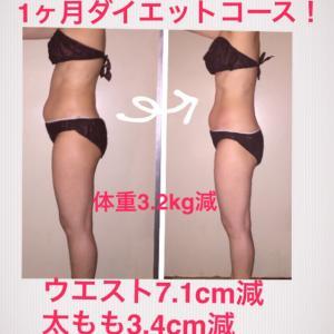 ■楽しいダイエット生活で結果を〜7cm減〜/豊橋のダイエットサロン