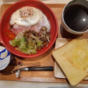 高匠の食パンとハムエッグで朝ごはん♪