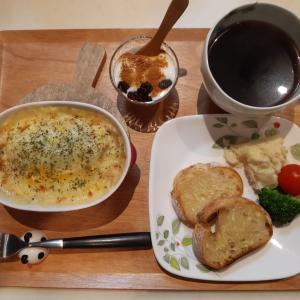 ロール白菜グラタンで朝ご飯♪