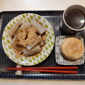 葛餅で朝ご飯♪