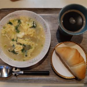 冬瓜スープと塩パンで朝ご飯♪