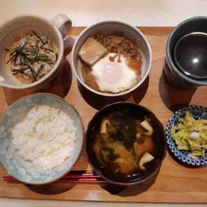 納豆と卵煮で朝ご飯♪