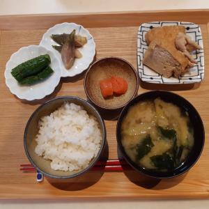 明太子と厚揚げの煮物で朝ごはんみたいなお昼ごはん♪