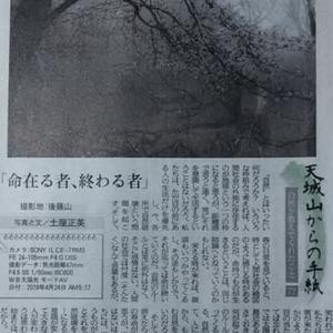 伊豆新聞掲載=天城山からの手紙