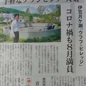 伊豆新聞掲載=手軽なグランピング  人気