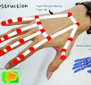 手首のカメラだけで指の動きを認識するVRデバイス