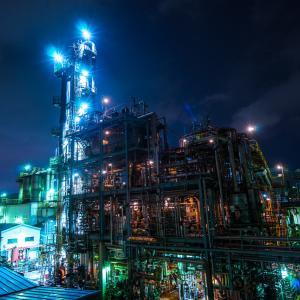 夜景+ロードバイクの撮影を、川崎の工場地帯で楽しむ