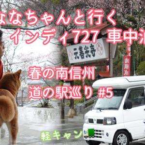 柴犬ななちゃんと行くインディ727車中泊の旅 春の南信州 道の駅めぐり#5