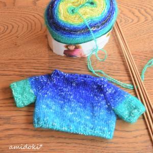 ぬいぐるみ用棒針編みセーター♪