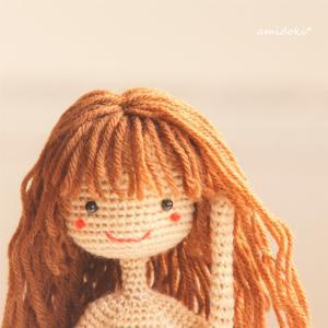 あみぐるみの髪の毛♪前髪ありロングヘアー