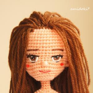 あみぐるみの髪の毛♪ロングストレートヘア