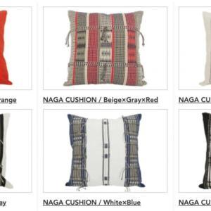ナガ族の手織りクッションカバー