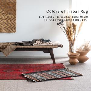 『Colors of Tribal Rug』 トライバルラグの展示会がスタートします