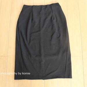 しまむら購入品|黒(ブラック)のシンプルなタイトスカート【チラシ掲載品990円】