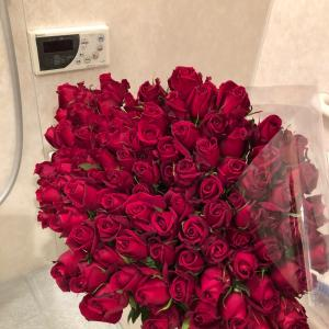 薔薇 生けました